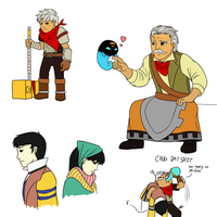 Bastion sketches by Pandadrake
