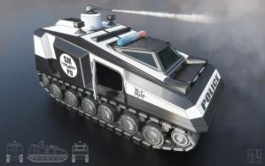Police Tank Concept by INITZS