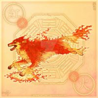 Wolf of Fire by yuumei