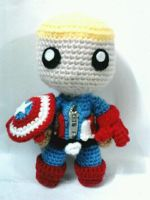 Captain America sackboy by NVkatherine