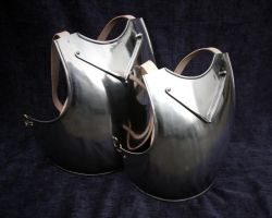 A Pair Of 14th C Breastplates by MatthiasBlack