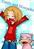 Emily and Slowpoke by youmee400