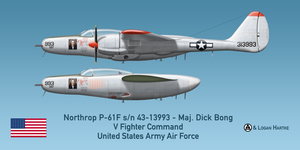 Northrop P-61F Escort Fighter - Marge - Maj. Bong by comradeloganov