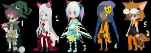 Magical adoptables set 8 CLOZED by AdoptableSoulxHeart