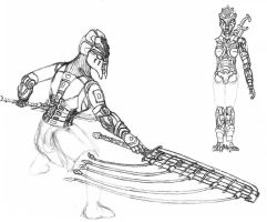 Sketch: Toa of Air by 0nuku