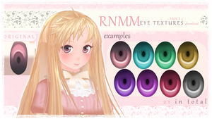 RNMM Eye Textures - Pack 1- DL by MMDxDespair