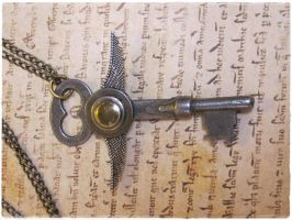 Godspeed - steampunk pendant FOR SALE by aLostKey