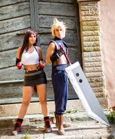 Tifa and Cloud Cosplay by LadyDaniela89