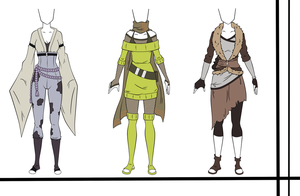 Adoptable Auction-Female Naruto Outfits-CLOSED by HardyDytonia