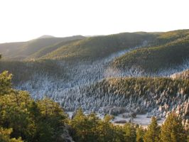 Frosty mountain valley morning south by xerion567