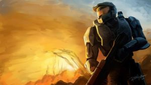 Master Chief Speed Paint by reikohattori