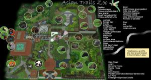 Asian Trails Zoo Map by MinxFox