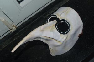 painted Leather- plague mask by BrimstonePreacher