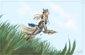 The Valkyrie of Warm Breezes by Ammosart