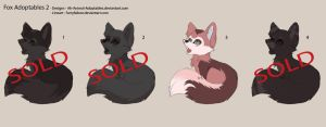Fox Adoptables 2 -Open- by Ah-Animal-Adoptables