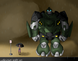 My neighbor Bulkhead by ChibiDarren