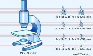 Microscope Icon by medical-icon-set
