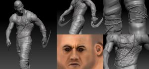 Riddick 3D Model progress by FoxHound1984
