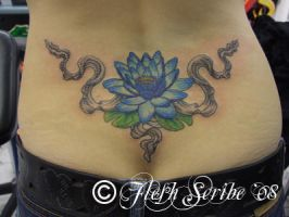 Lotus and Silk Tattoo by mxw8