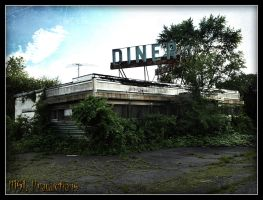 Abandoned Diner by Dracoart