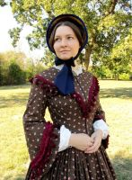 Autumn Day Dress circa 1855-1860 by tinselizzi