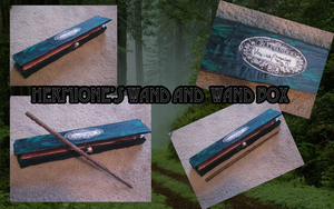 Hermione's Wand and Wand Box by DefyingGravityxoox