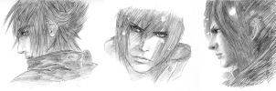 FF XIII Noctis Sketches by valefor