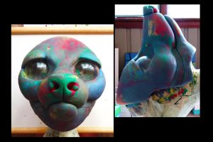 Canine Resin Fursuit Base Clay Sculpt *v.2* by alliemattable