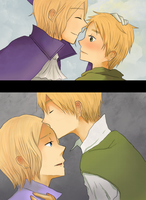 APH: FRUK Forehead Kisses by lolliep0ps