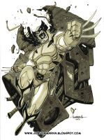 Wolverine VS The Sentinel by Red-J