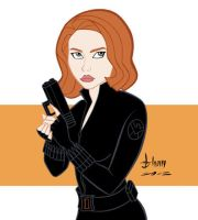 Scarlett Johansson - Black Widow by howardshum
