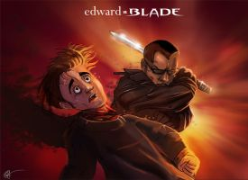 Edward vs Blade by lord-phillock