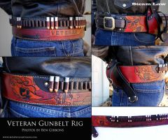 Veteran Biker Gunbelt by rosewolfartisans
