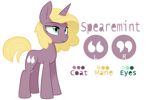 Spearemint (redesign) OC ref by 8BitAmy