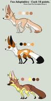 10 Points Each - Fox Adoptables by OutTheBoxes