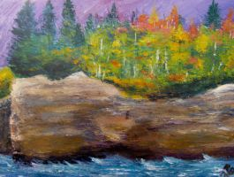 Pictured Rocks Pallet Knife by RoccoBertucci