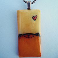 Orange Cat Pendant by cellsdividing