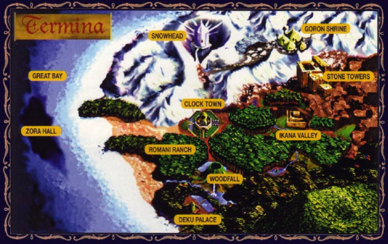 Map from Majora's Mask by Linka-Wolf