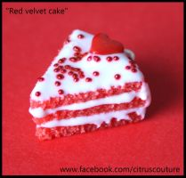 Cake collection: Red velvet cake charm by citruscouture