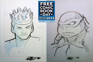 FCBD 2014 Sketches  07 - 08 by theCHAMBA