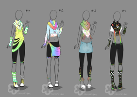Colorful Outfit Designs #2 - sold by Nahemii-san