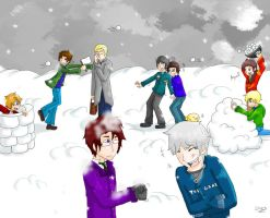 Hetawinter Snowball Fight by SecretAgentRyuu13