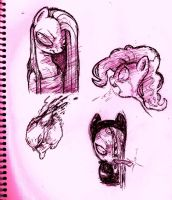 MORE PINKAMENA DOODLES by Candys-Killer