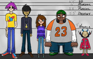 Height Chart 2.0 by gogorillazgone