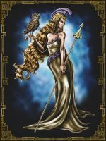 Pallas Athena - Deity Trading Card Series I by CMurr