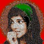 Clara Lago photo mosaic by Mosaikify