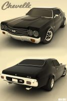 1970 Chevelle SS by 3dmodeling