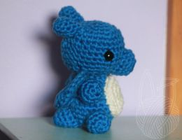 Sideview Small Blue Dragon by theyarnbunny