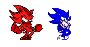 Sonic's and Shadow's New Forms by TrueBladEdge