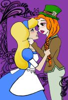 Alice and the Hatter WIP by Brii333